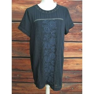 Abercrombie & Fitch Dress Women's Large Tall Navy